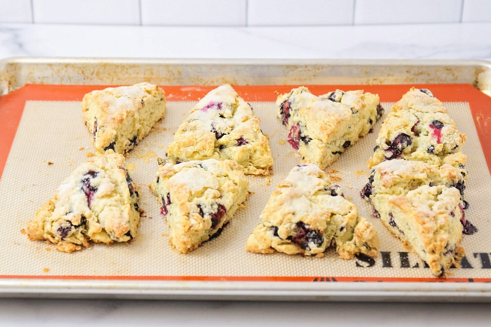 Scones on a baking sheet