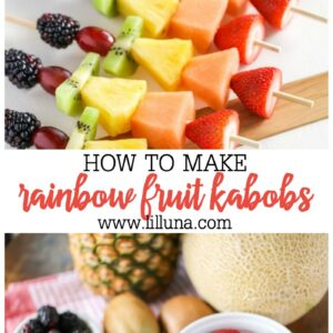 Rainbow Fruit Kabobs Great For Parties Lil Luna