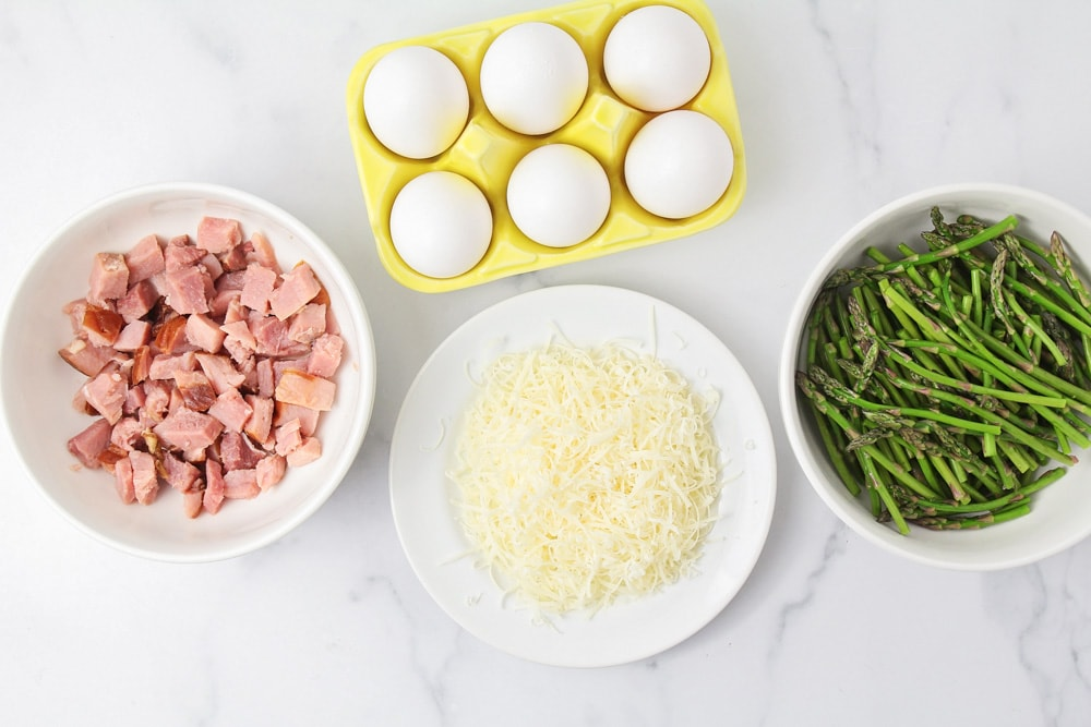 Ingredients for an easy frittata recipe