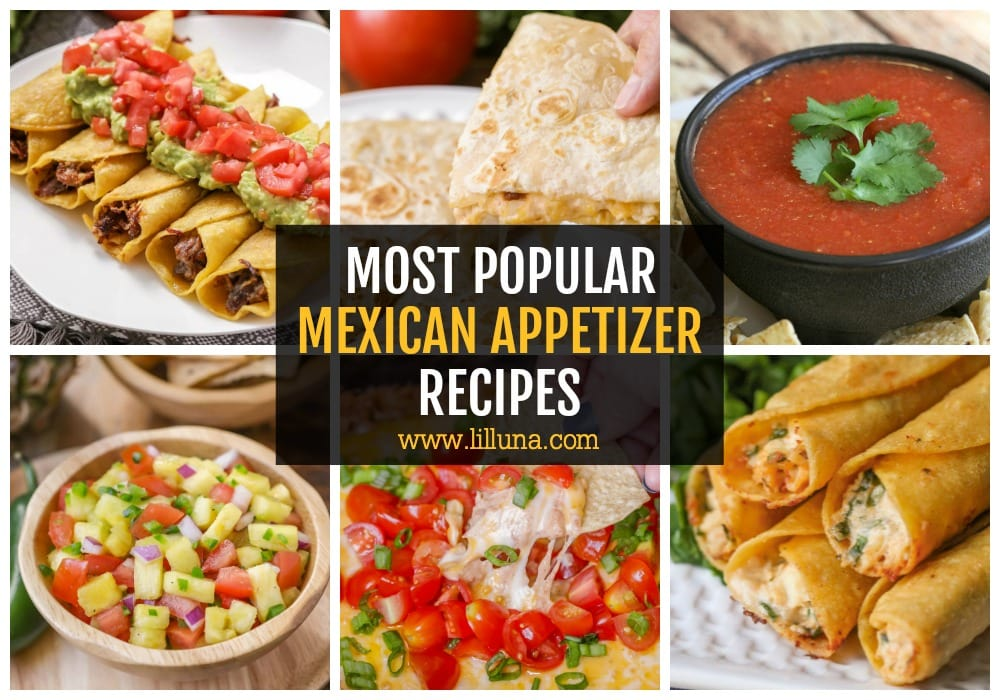Collage of Mexican Appetizer Recipes