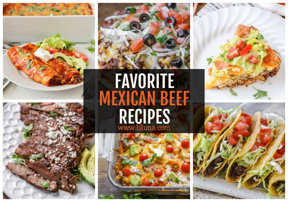 Collage of Mexican Beef Recipes