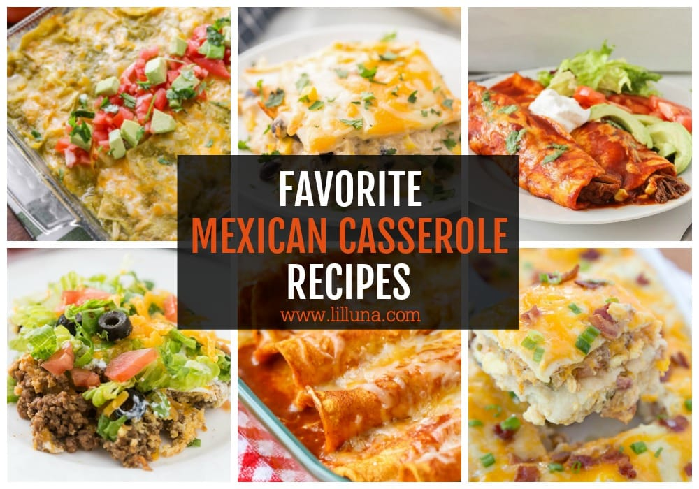 Collage of Mexican Casserole Recipes