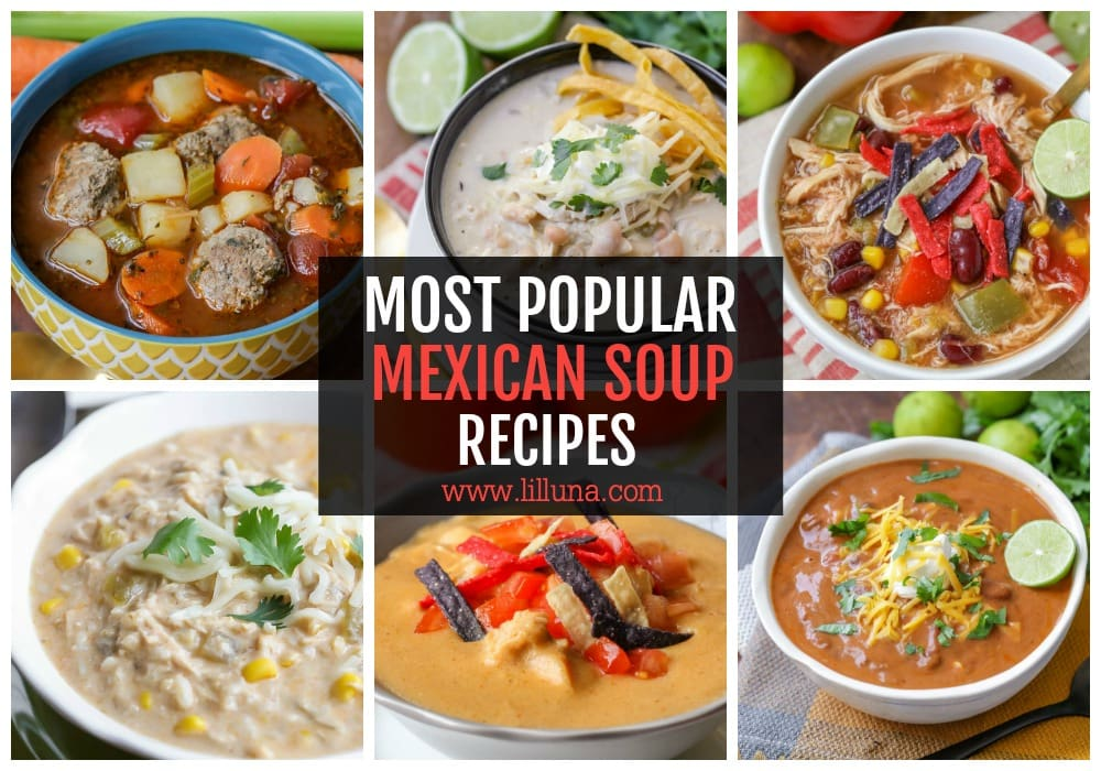 Collage of Mexican Soup Recipes