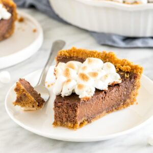 A slice of S'mores Pie