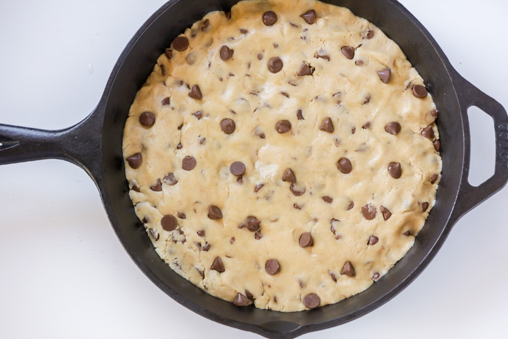 How to make pizookie - in skillet