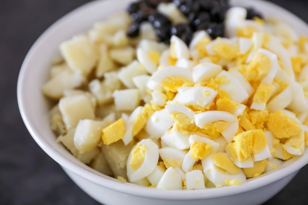 How to make potato salad process picture