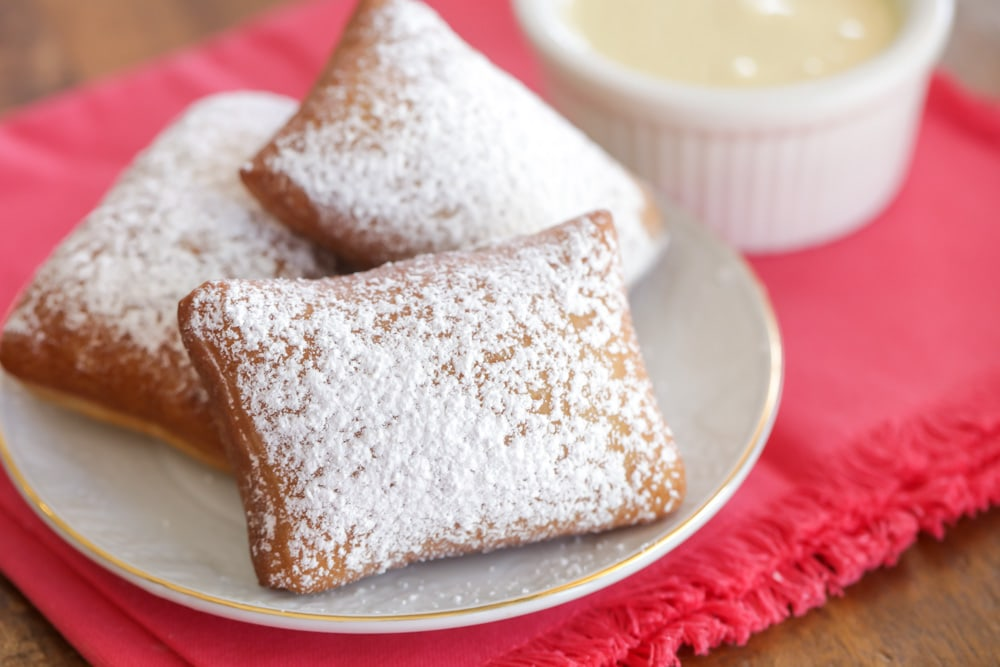 Easy Beignets recipe - sprinkled with powder sugar