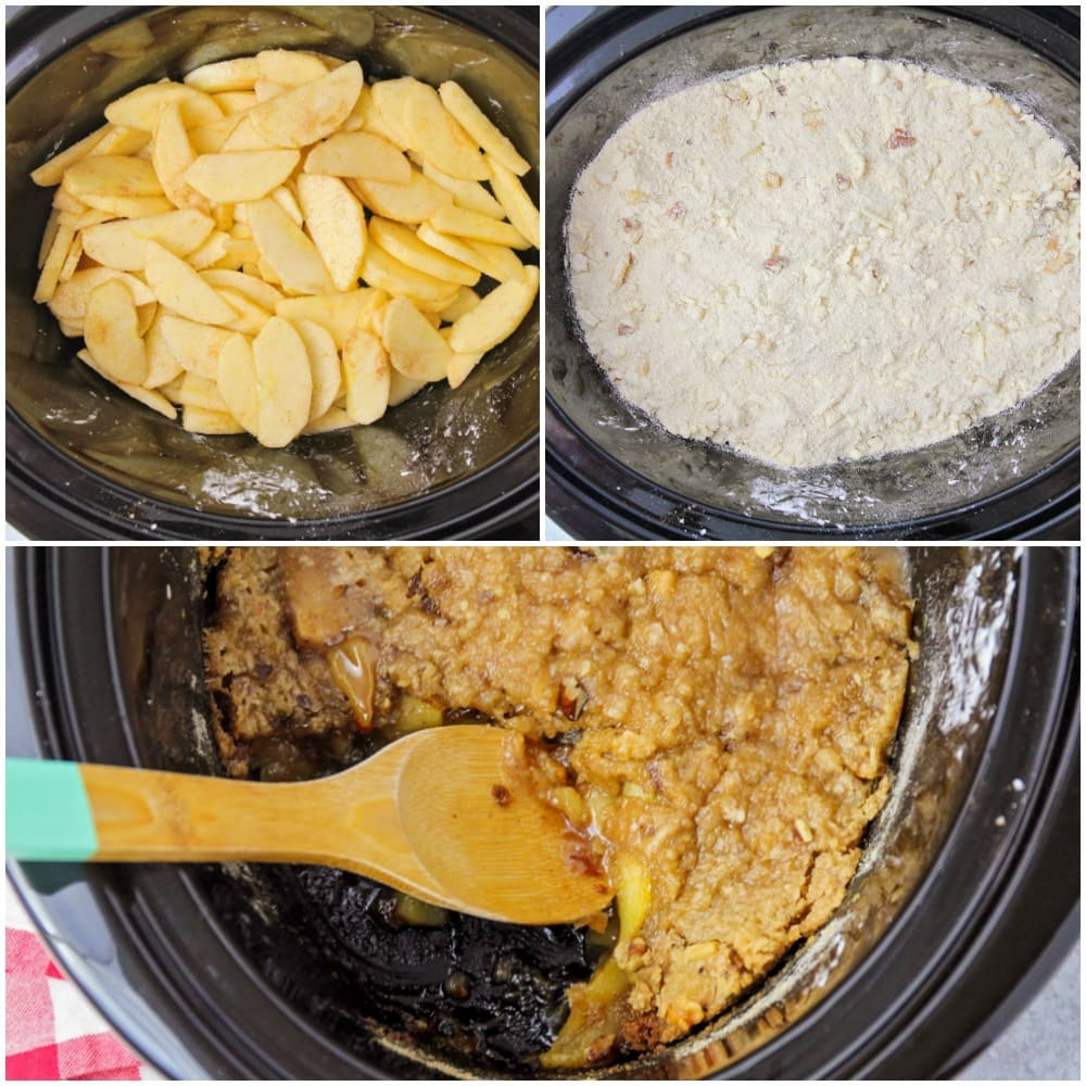 How to make crock pot apple crisp images