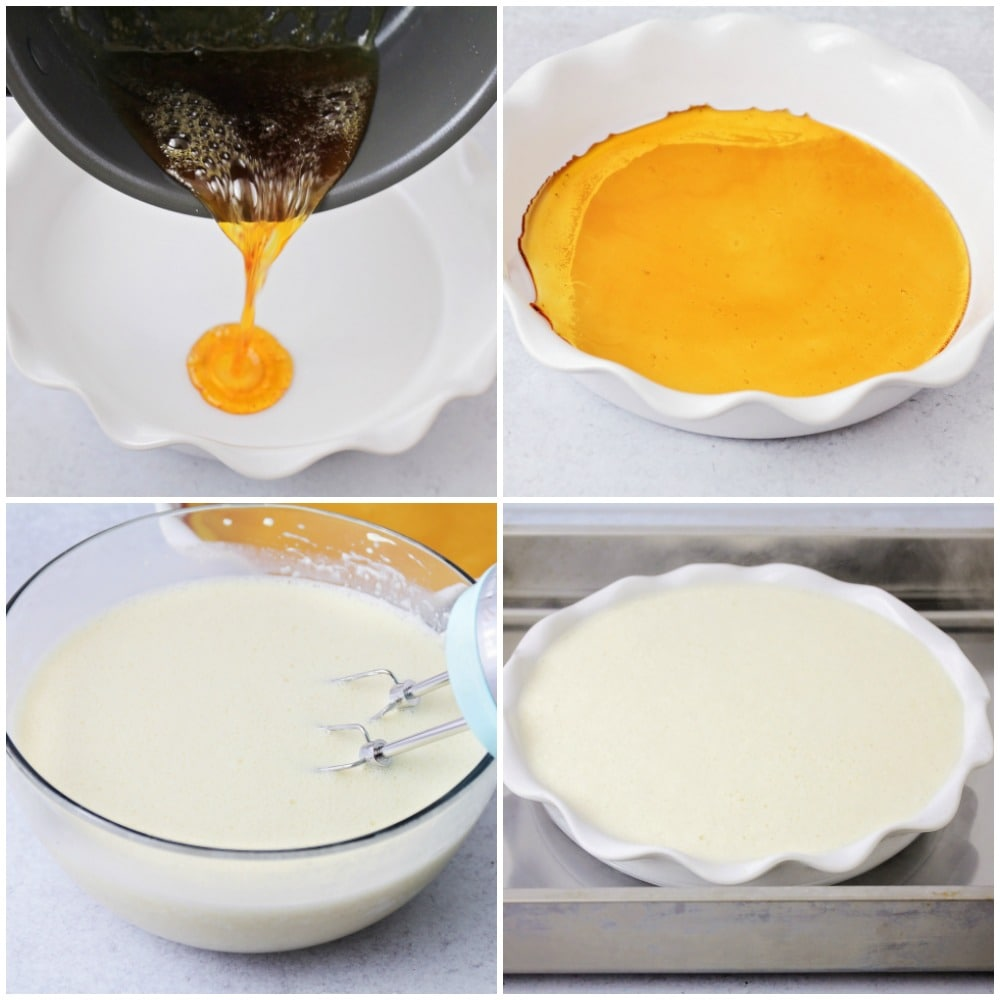 Step by step pictures of how to make flan