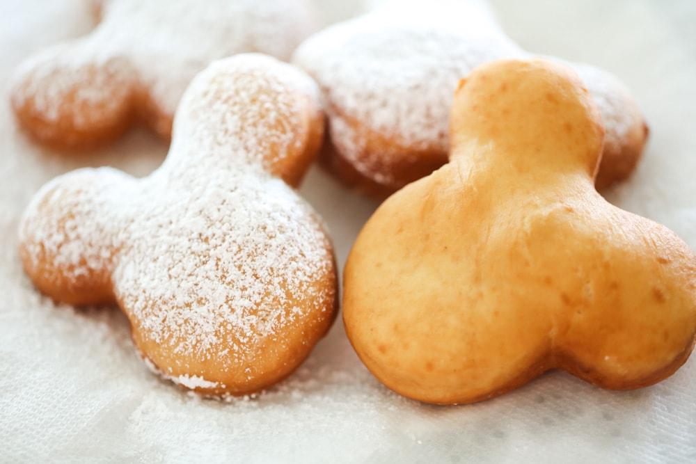 Disneyland Beignets sprinkled with powdered sugar
