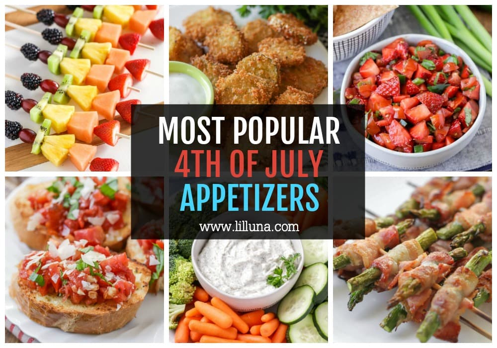 Collage of 4th of July Appetizers