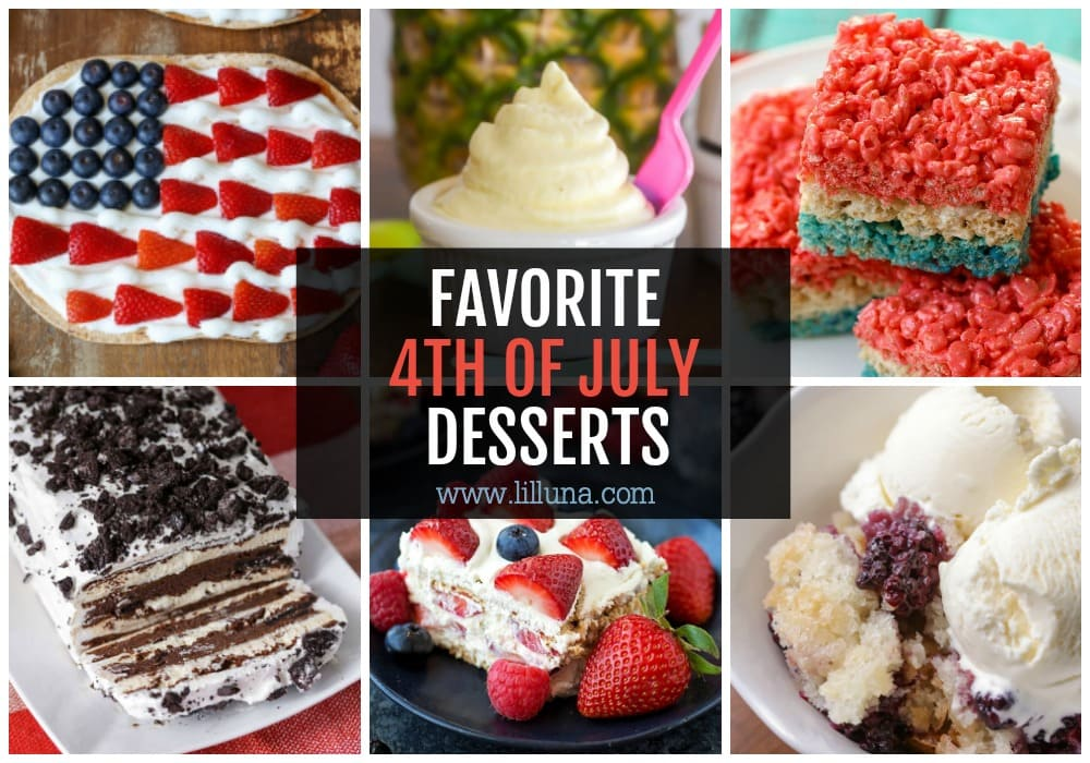 Collage of 4th of July Desserts