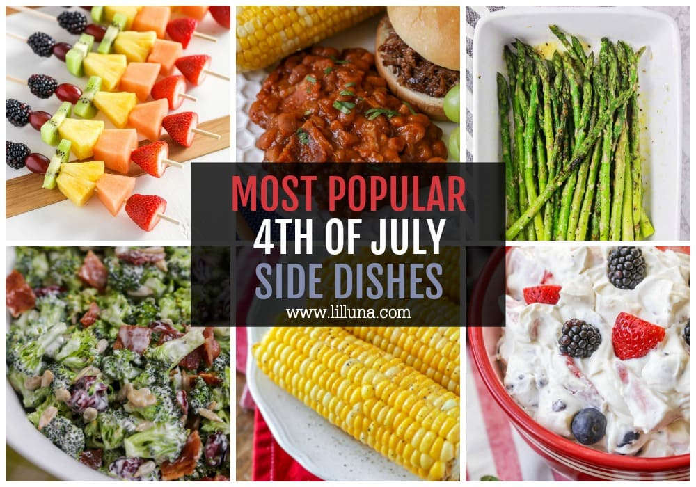 Collage of 4th of July Side Dishes