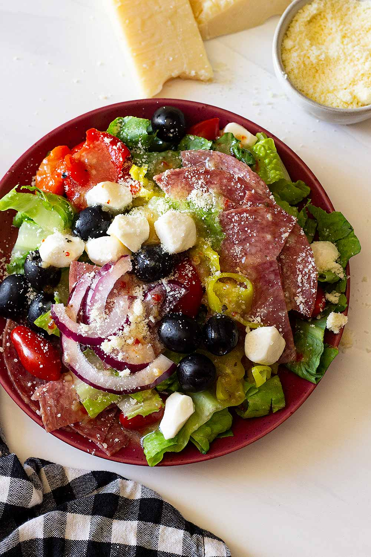 Antipasto salad close up