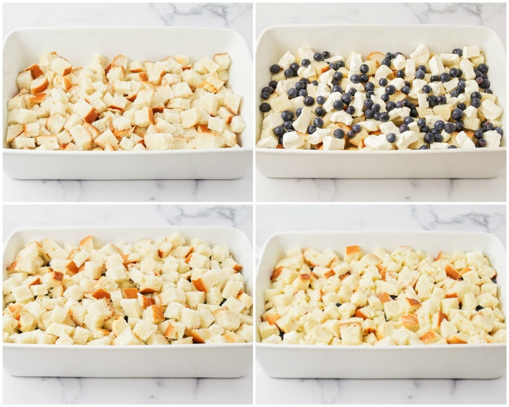 Blueberry French toast bake process pics