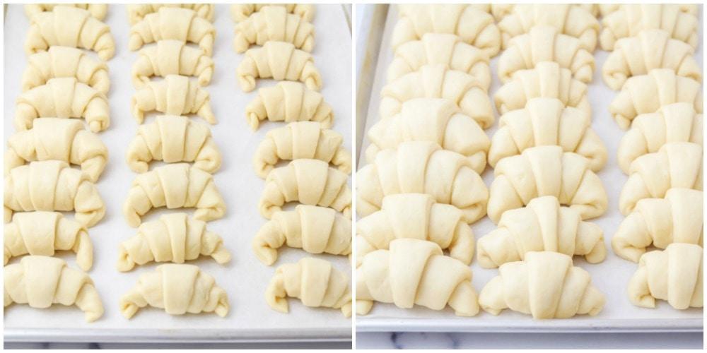 Photos du processus de rouleau de croissant fait maison