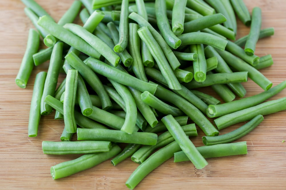 Fresh beans used for fresh green bean casserole recipe