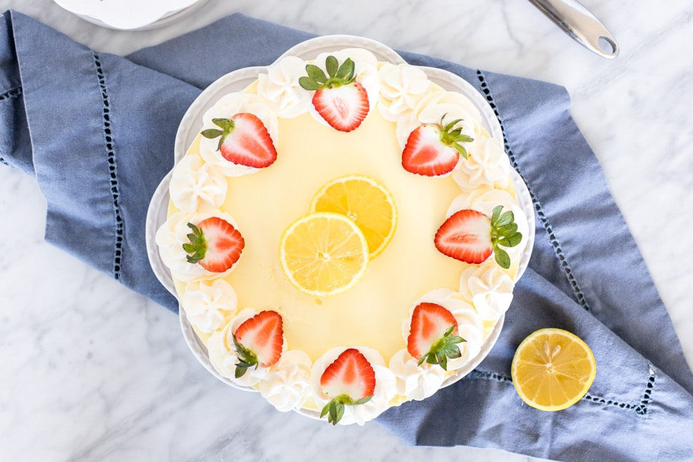 Lemon jello no bake cheesecake