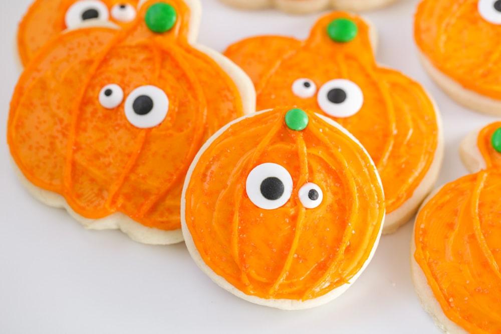 Halloween Sugar Cookies - pumpkins