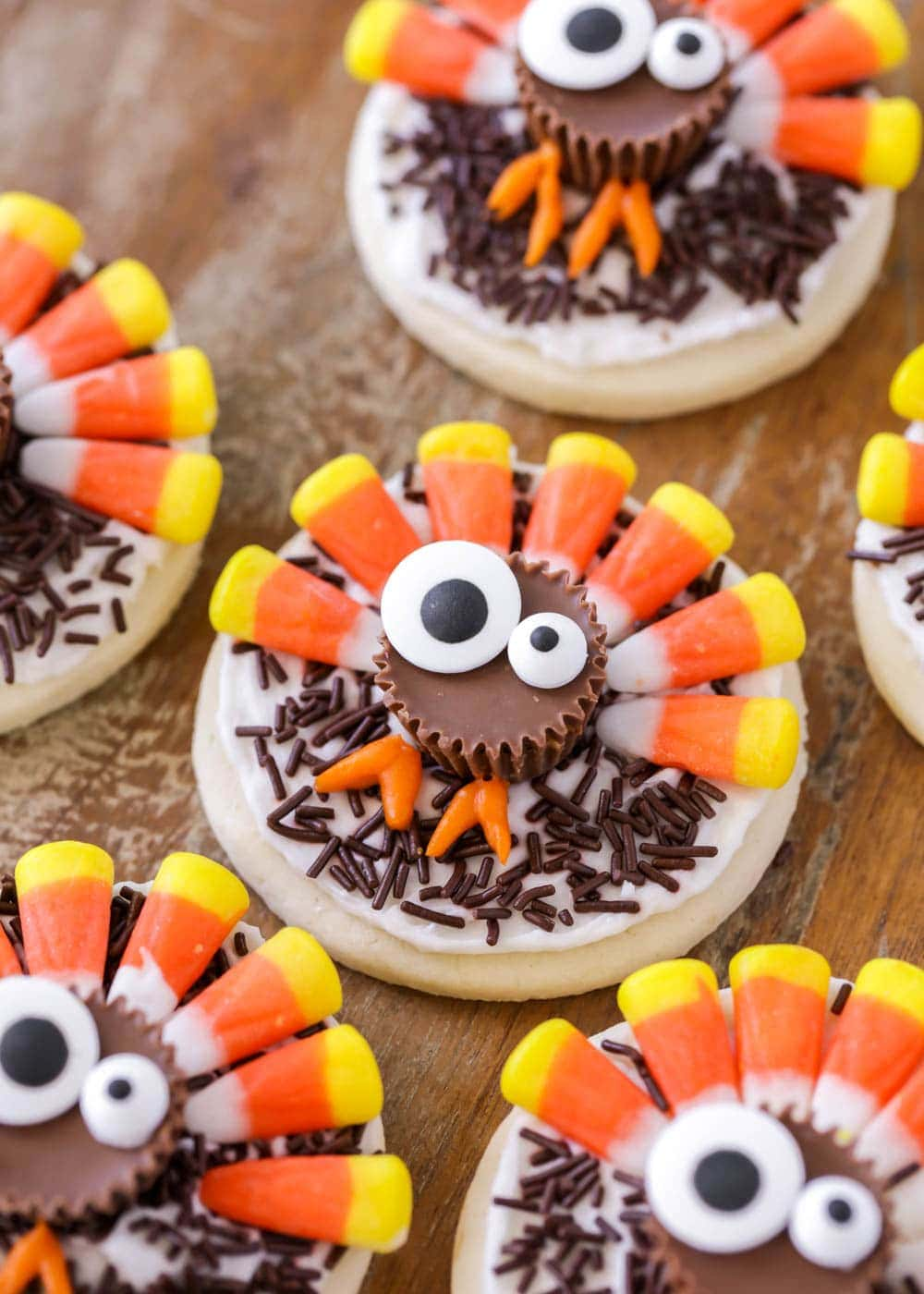 Thanksgiving sugar cookie idea - turkey cookies