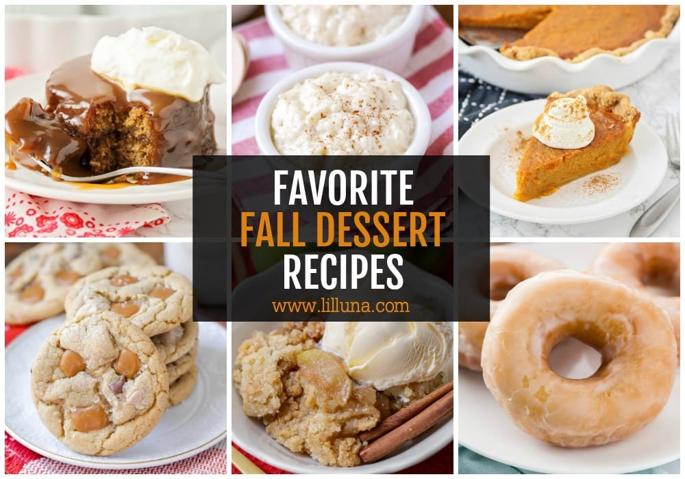 Collage of Fall Dessert Recipes