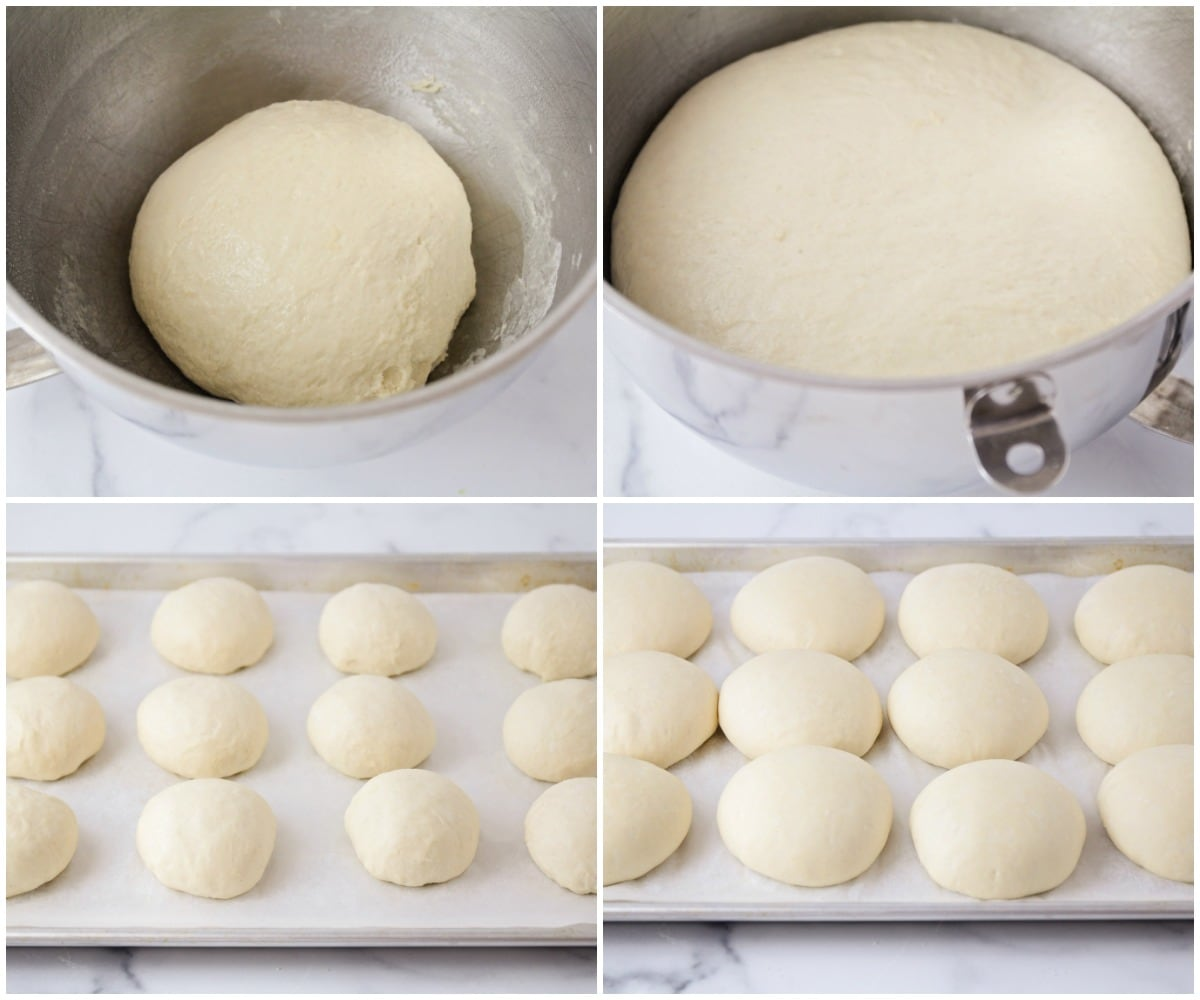 Step by step photos of how to make pretzel rolls