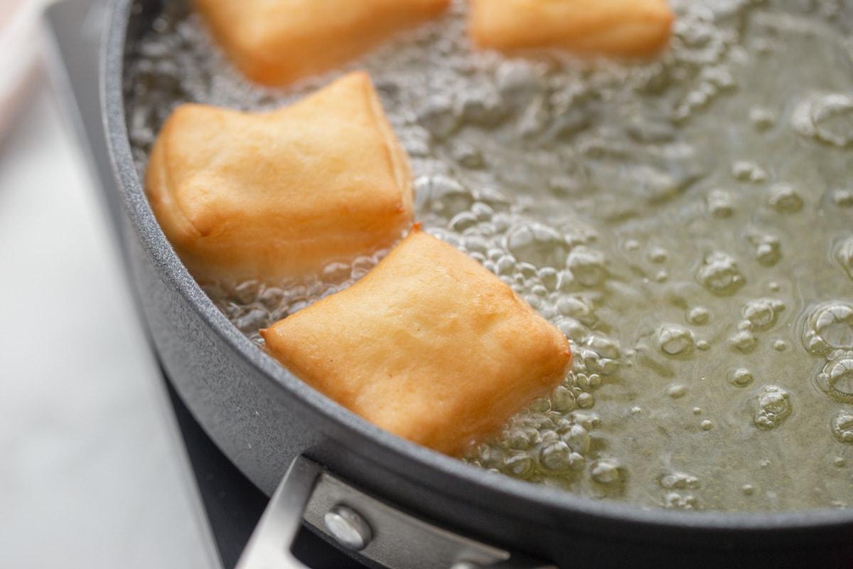 square dough fried in oil