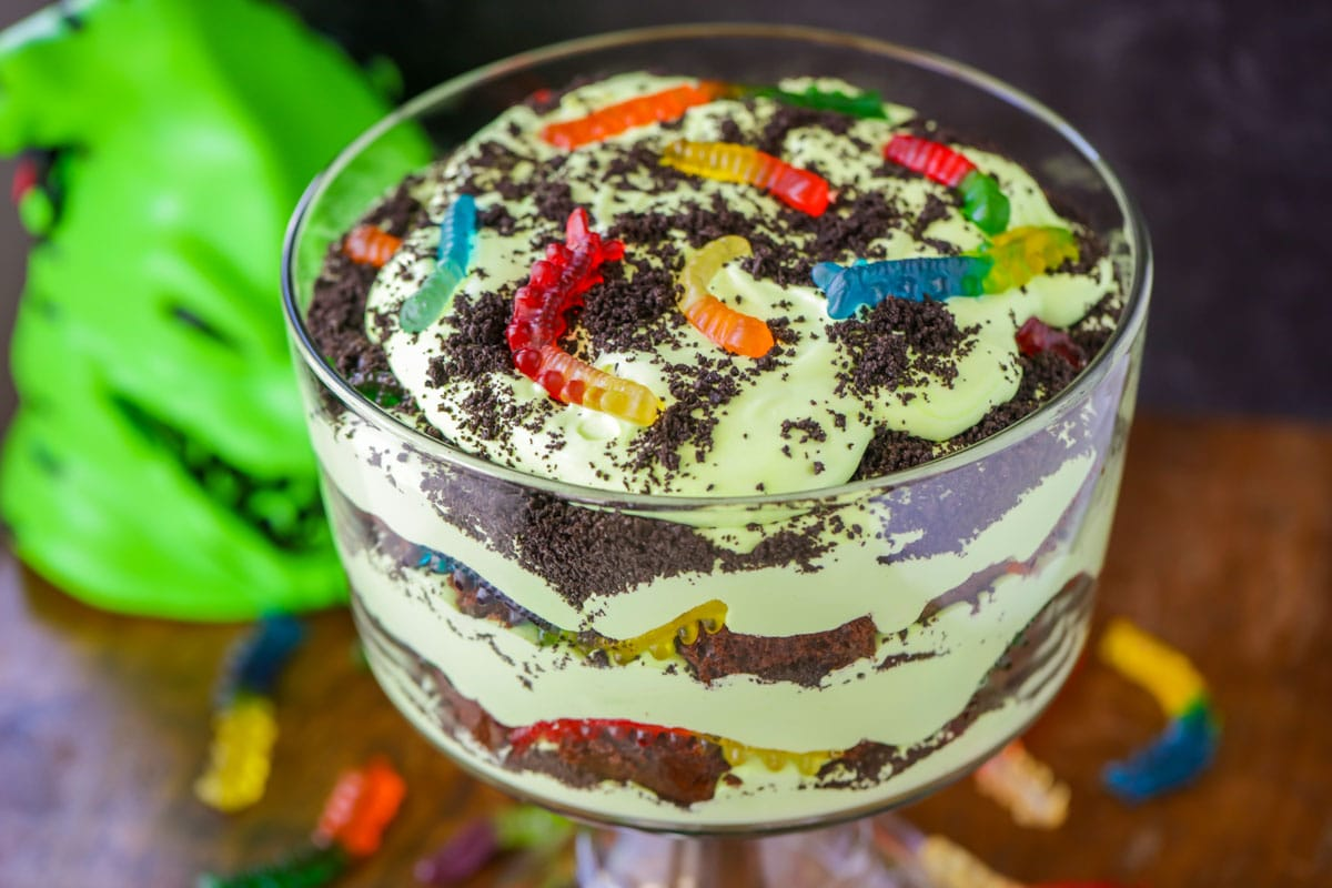 Oogie Boogie trifle close up image