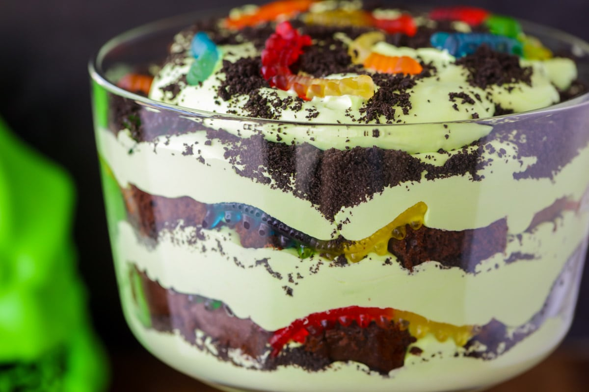 Trifle close up image