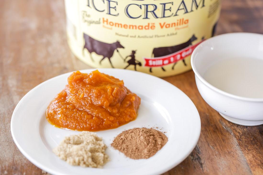Pumpkin milkshake ingredients