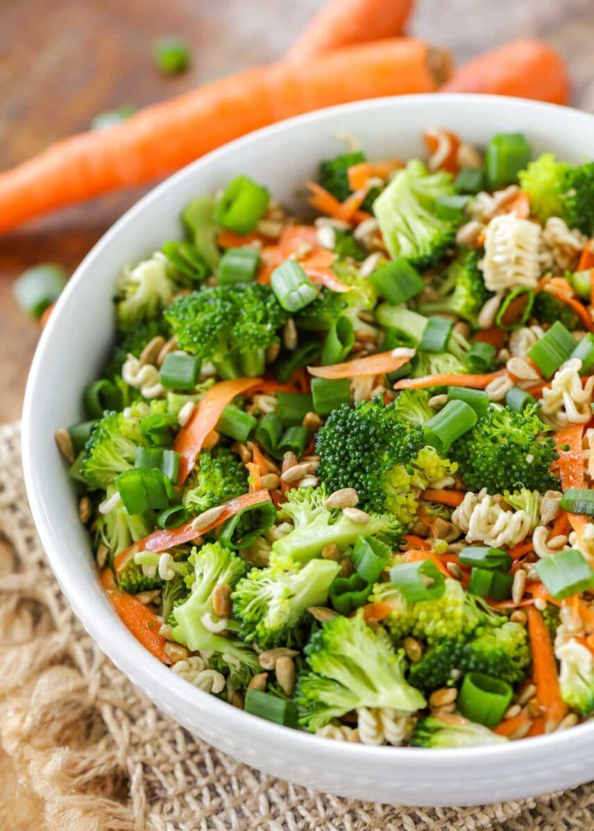 Broccoli slaw recipe in bowl
