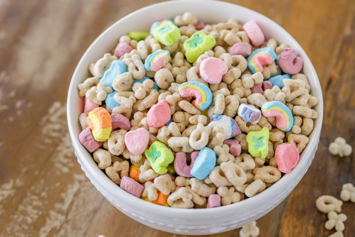 Lucky charms in bowl
