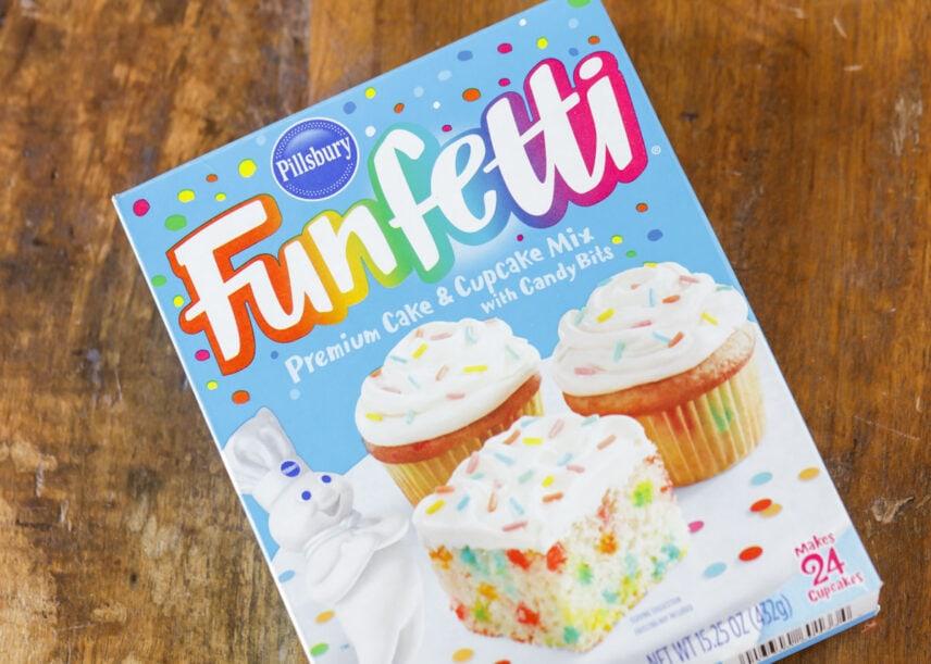 Funfetti Cake Mix Box