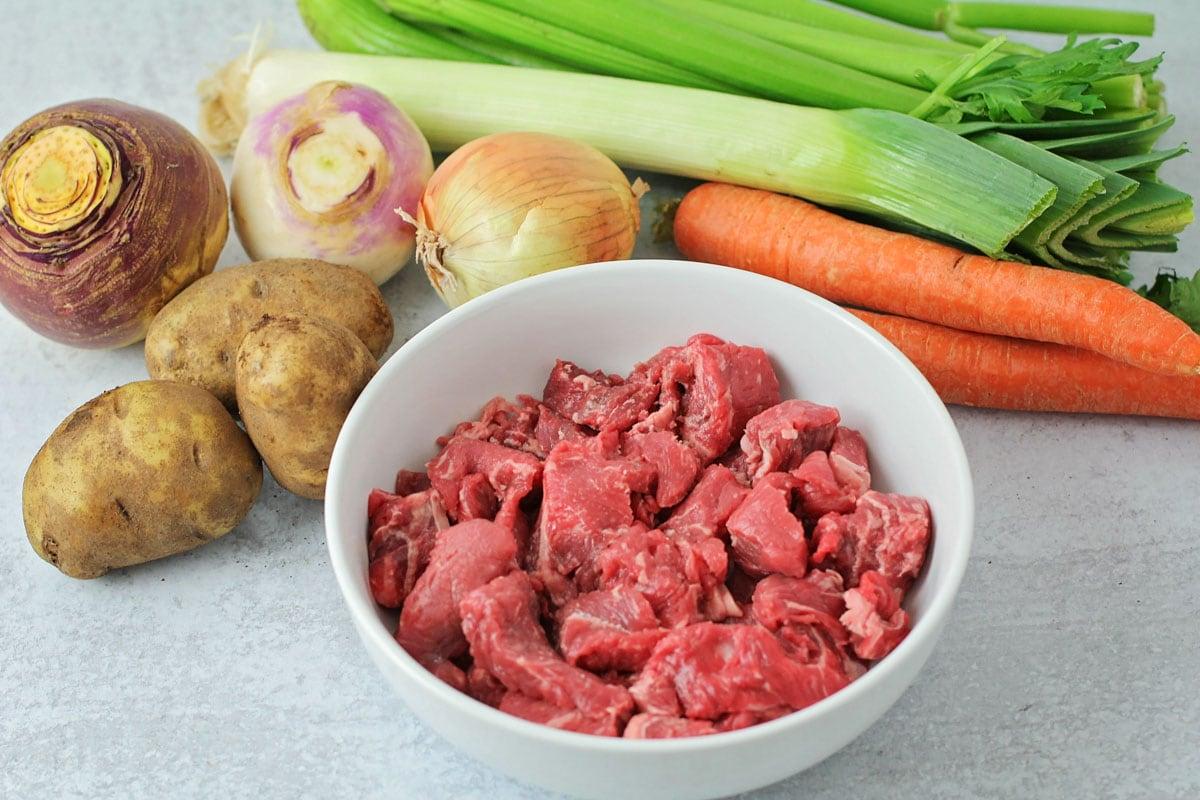 Ingredients for instant pot beef stew recipe
