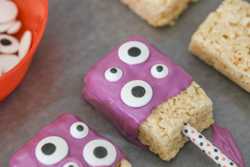 How to make monster rice krispie treats