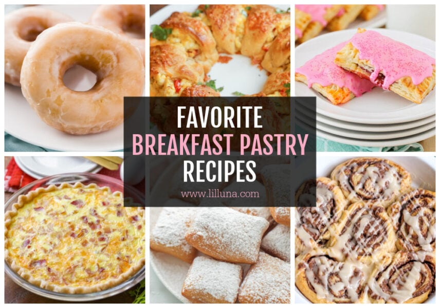 Collage of breakfast pastry recipes
