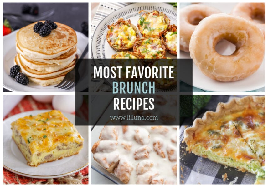 A collage of brunch recipes