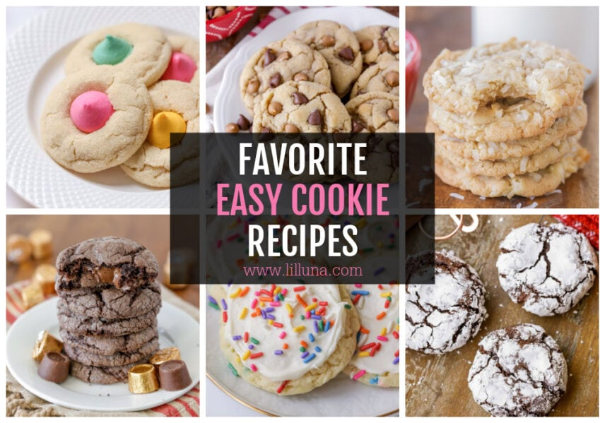 Collage of easy cookie recipes