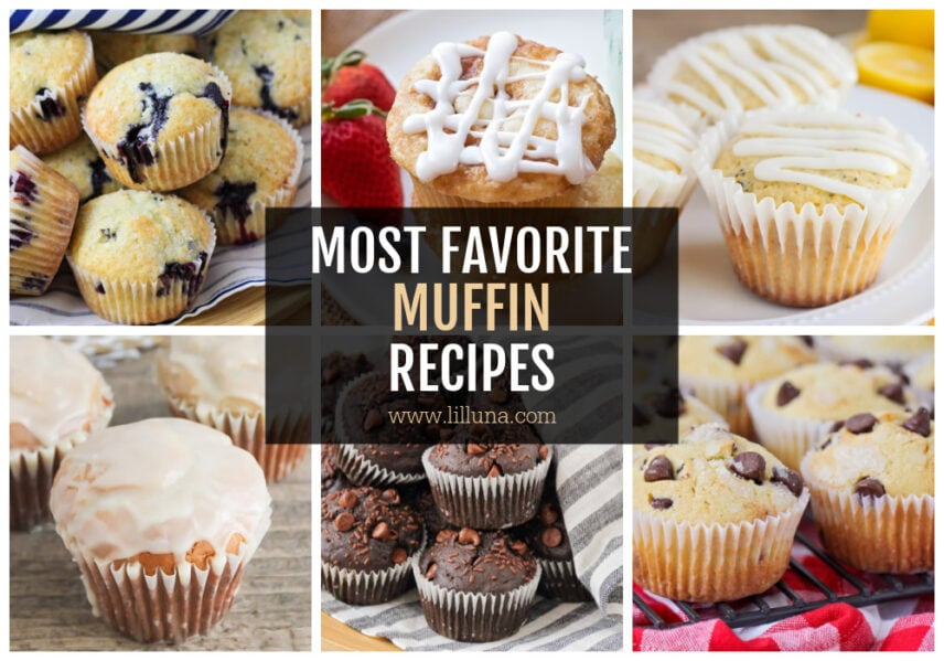A collage of muffin recipes