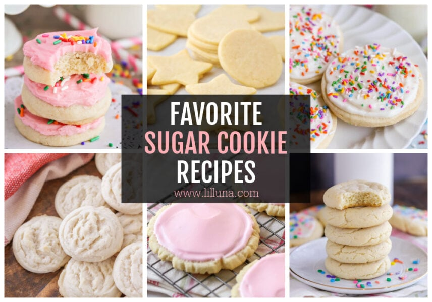 A collage of sugar cookie ideas